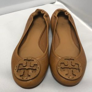 TORY BURCH reva tan flats